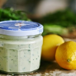Garlic and Coriander Yoghurt Dressing
