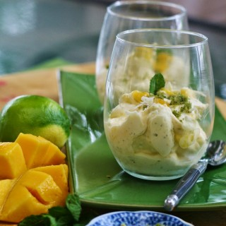 Mango and Lime Syllabub